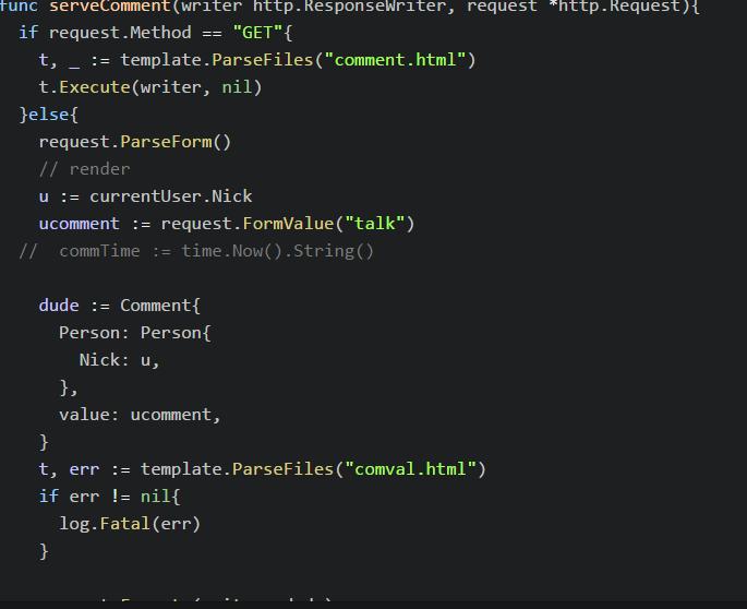 Rendering html/template (Beginner) - Getting Help - Go Forum